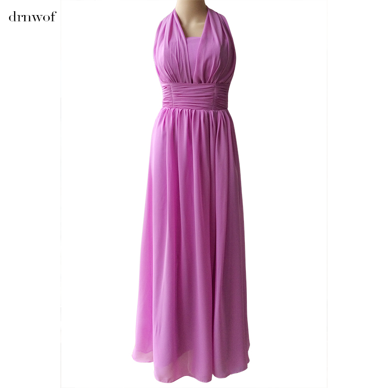 drnwof Long Bridesmaid Dresses Turquoise A Line Sleeveless Wedding ...