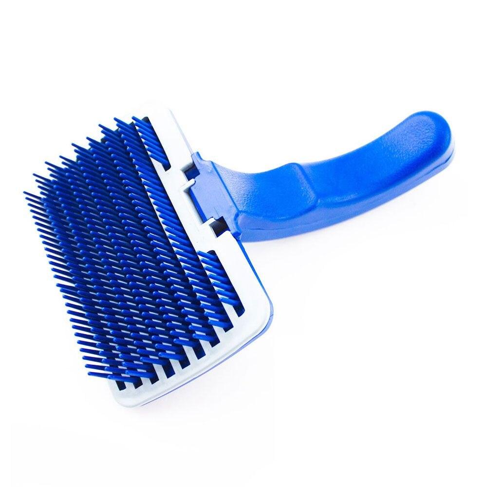 Pet Dog Cat Grooming Self Cleaning Slicker Brush Comb Shedding Tool Hair Fur
