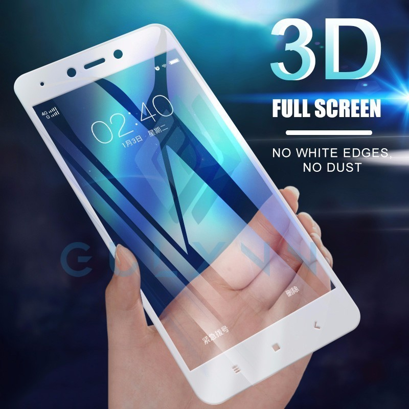 3D Full Cover Screen Protector Tempered Glass Film For Xiaomi Redmi 7A 5 6A 5A 6 Note 7 5 6 Pro Protector Film For Poco F1 Cover(China)