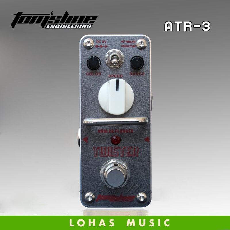 Vente chaude tom'sline atr-3 twister classique analogique flanger effet guitare pédale 2 modes de travail: gel et normale true bypass