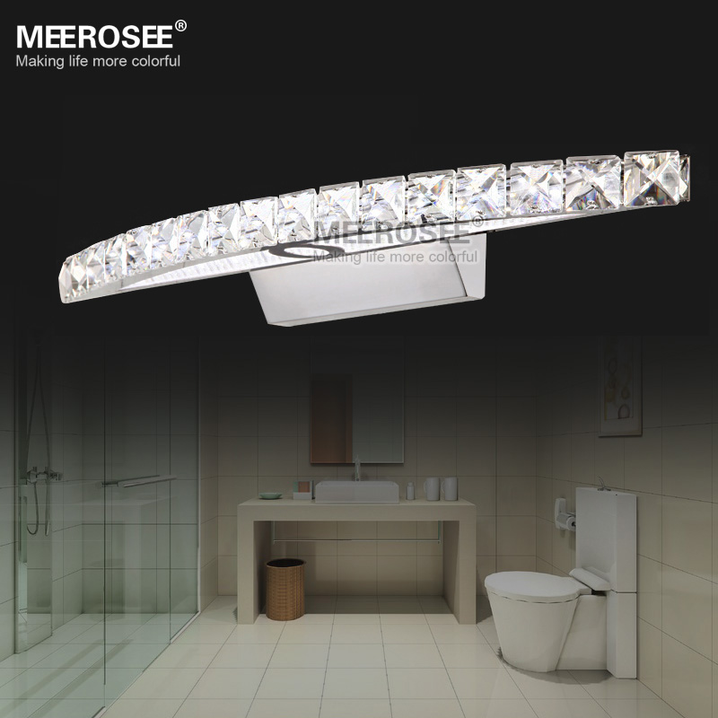 Contemporary LED Crystal Wall Sconces Light Cristal LED Mirror Lamp Stainless Steel Lighting for Bathroom Home Decor MD81539Contemporary LED Crystal Wall Sconces Light Cristal LED Mirror Lamp Stainless Steel Lighting for Bathroom Home Decor MD81539