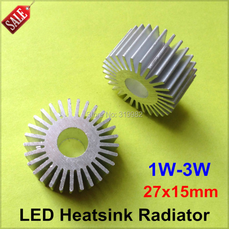 50pcs/lot LED Aluminum Heatsink LED Radiator For 1W 3W High Power Lamp DIY LED Cooler dissipador de calor UFO PCB Radiator