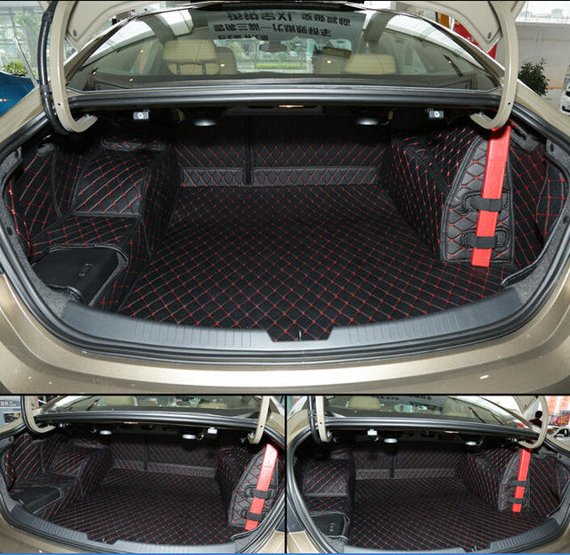 Special Trunk Mats For New Chevrolet Malibu 2016 Waterproof Boot Carpets Cargo Liner 2017 Free Shipping