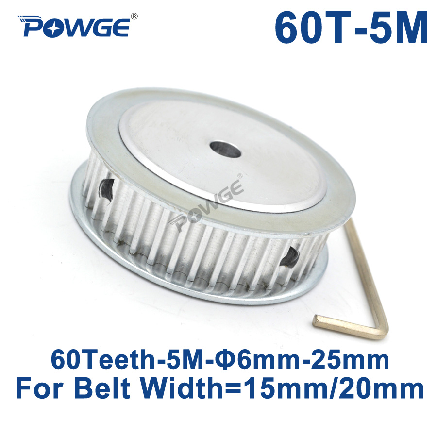 все цены на POWGE 60 Teeth HTD 5M Synchronous Timing Pulley Bore 6//8/10/12/14/15/16/20/25mm for Width 15/20mm HTD5M Gear wheel 60Teeth 60T