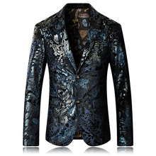 Luxury Fashion Mens Custom Made Blazers Party Casual Wear Coat Jacket High Quality Floral Men Suit Single Brested