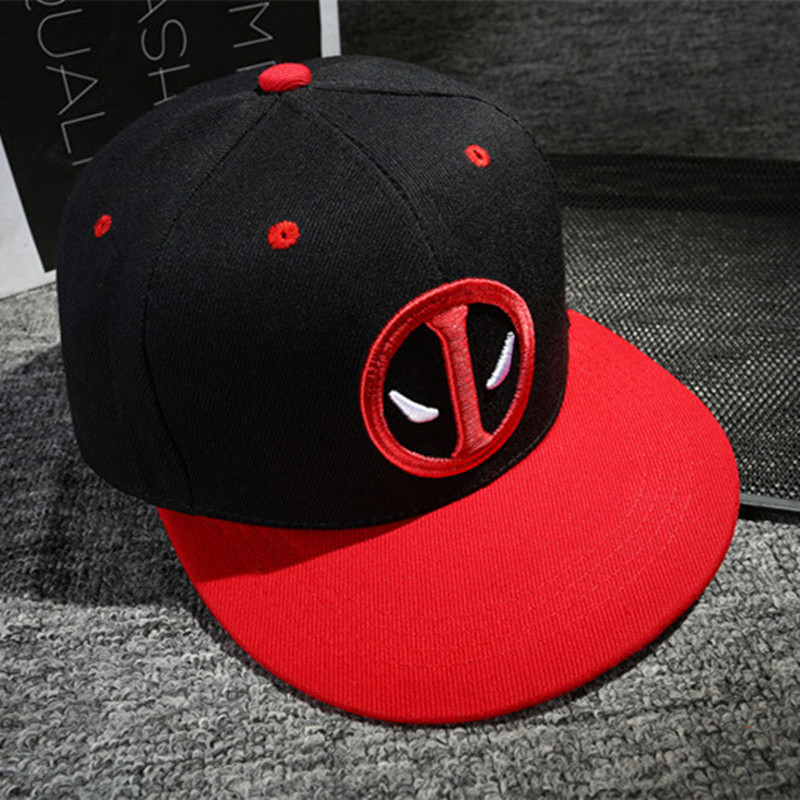 3d485e17dab155 2018 Fashion Unisex Deadpool Embroidery Baseball Caps Men Women Funny Marvel  Hat Adjustable Snapback Casquette Hockey Caps-in Baseball Caps from Apparel  ...