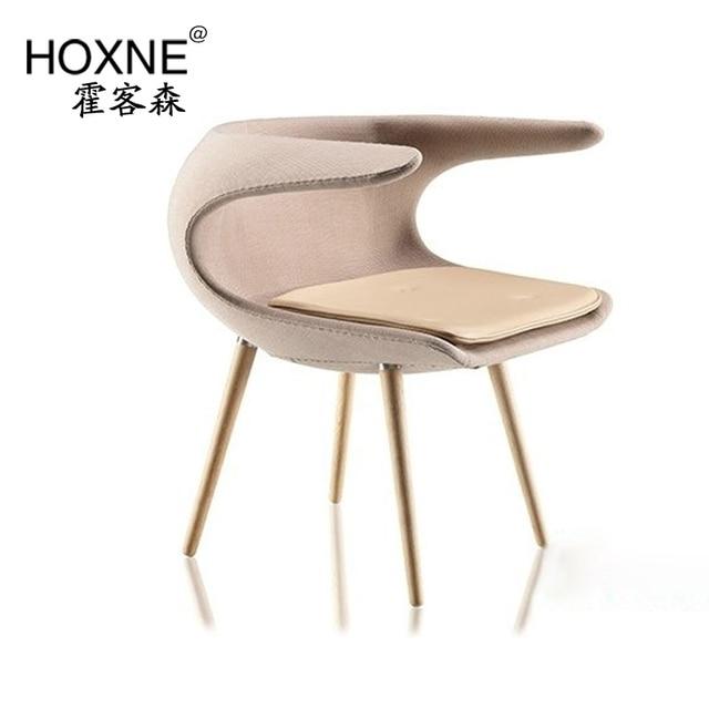 huo sen nouvelle chaise danoise furnid de la glace feutre fauteuil chaise en cachemire pu - Chaise Danoise