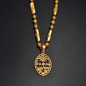 Image 2 - Anniyo גואם תליון חרוז שרשראות לנשים גברים זהב צבע גואם תכשיטי מתנות #166506H