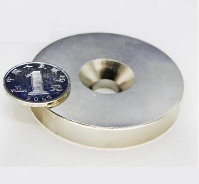 1pcs Super Strong Round Neodymium Countersunk Ring Magnets 60mm x 10mm Hole:10mm N50 Neodymium Magnet omo magnetics n35 36pcs strong neodymium round ring cylinder countersunk hole 5mm magnets 20mm x 3mm