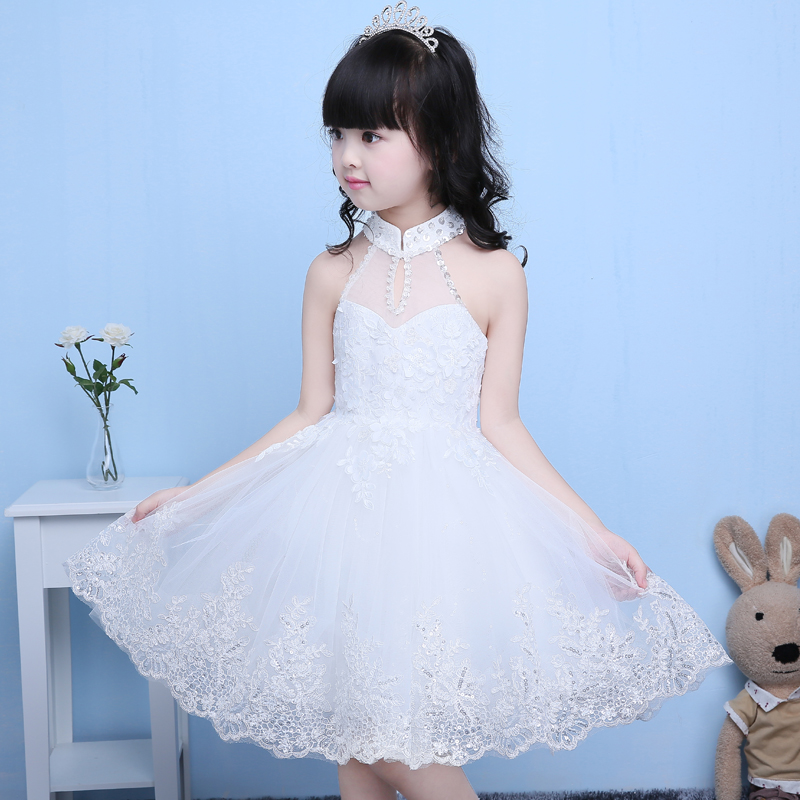 Princess Flower Girl Dress Summer 2017 Tutu Wedding Birthday Party Dresses For Girls Children's Costume Teenager Prom Designs bec