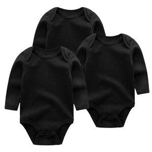 Однотонные детские комбинезоны, милые 3 шт./Лот, Одежда для новорожденных девочек и мальчиков, женская одежда с длинным рукавом