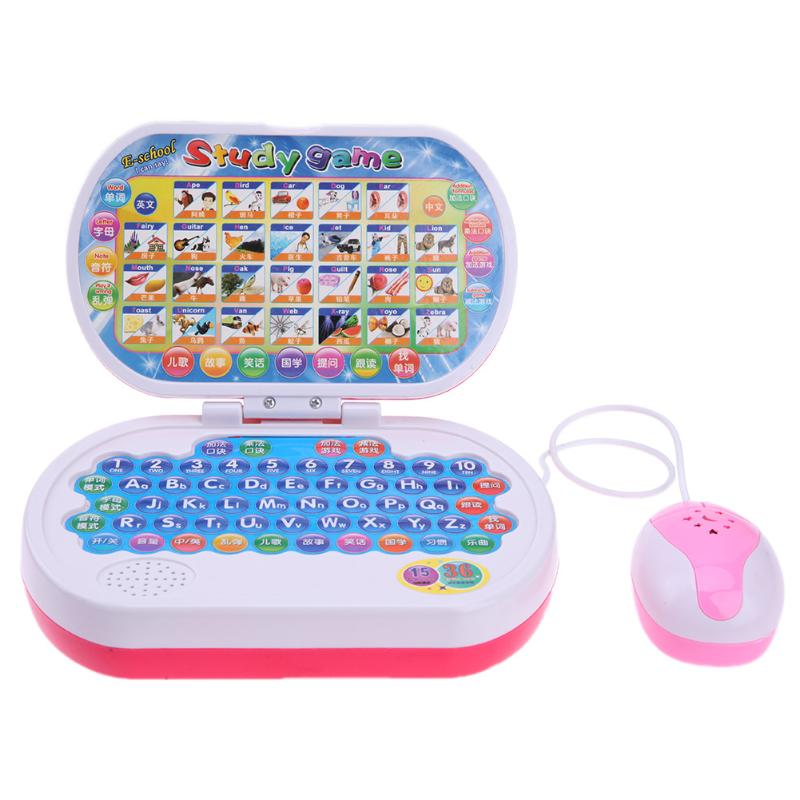 Multi-functional Baby Children Educational Learning Machine Kid Laptop Toy Computer Lapt ...