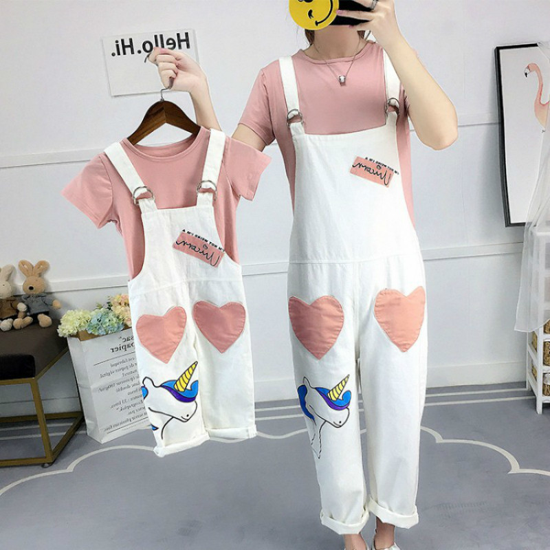 Mother Daughter Clothes Sets Family Matching Clothing Sets Mom Girls Heart Dress+t Shirts 2pcs Family Look Clothing Suits 2018 new classical cheongsam children clothes women girls family look matching clothing mother daughter mom