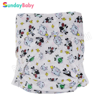 1 pc Large size Adult cloth diaper pants for old man and disabled adjust size adult diaper underwear