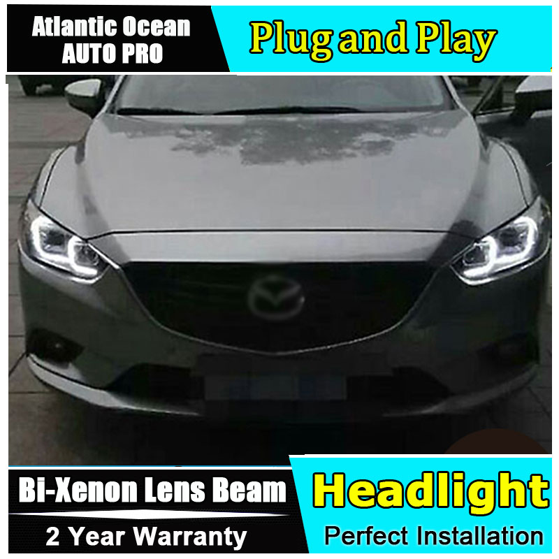 Auto Lighting Style LED Head Lamp for Mazda 6 led headlights 2015 new Mazda6 headlight led HID KIT LED Bi-Xenon Lens low bea auto part style led head lamp for benz w163 ml320 ml280 ml350 ml430 2002 2005 led headlights drl hid bi xenon lens low beam