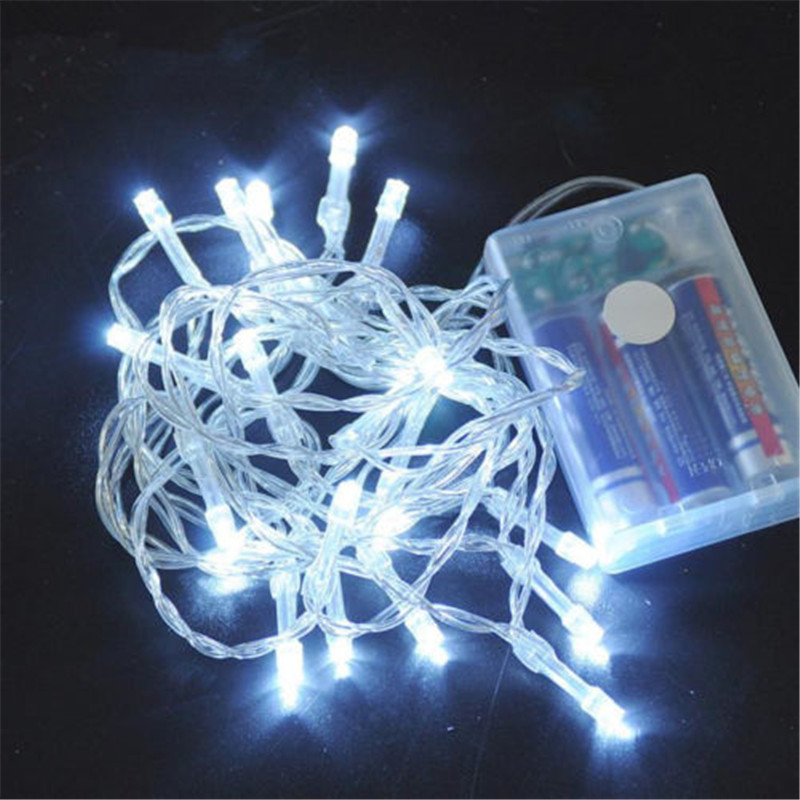 10/20/40/80/160 AA Battery Operated LED String Lights For Xmas Garland Party Wedding Decoration Christmas Flasher Fairy Lights