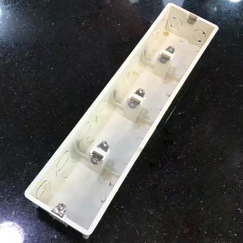2pcs 20pcs 86 Junction Box Concealed Pvc Wiring 4 Cassette