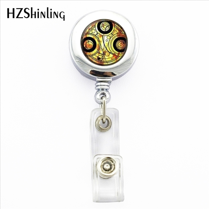 2017 New Time Lord ID Card Holder Doctor Who Retractable Metal Card Badge Holder Doctor Who Office Badge Reel