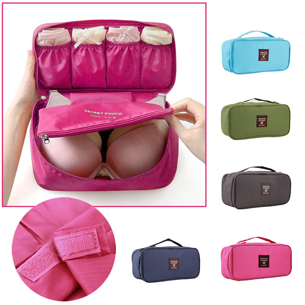New Bra Underwear Travel Bag For Women Organizer Trip Handbag Luggage Traveling Pouch Case Suitcase E Saver In Storage Bo Bins