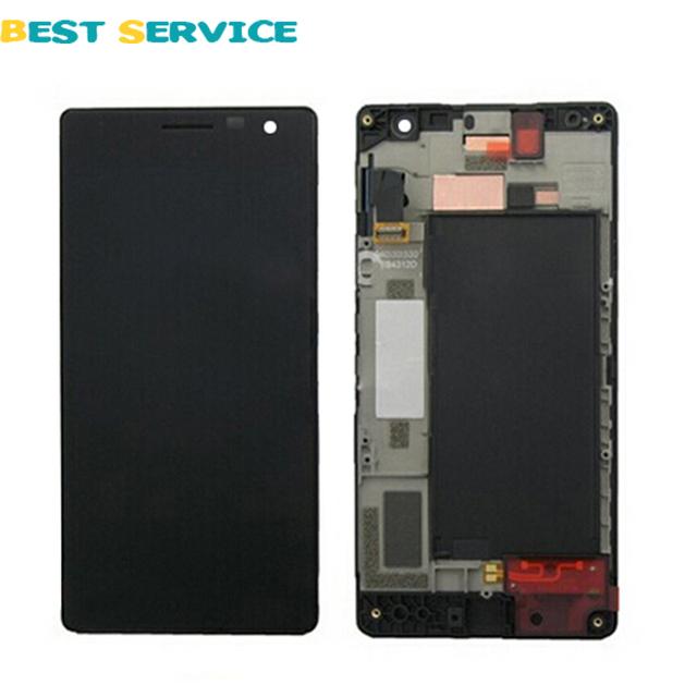 Para nokia lumia 730 735 display lcd + touch screen digitador assembléia com a substituição do quadro peças + ferramentas frete grátis