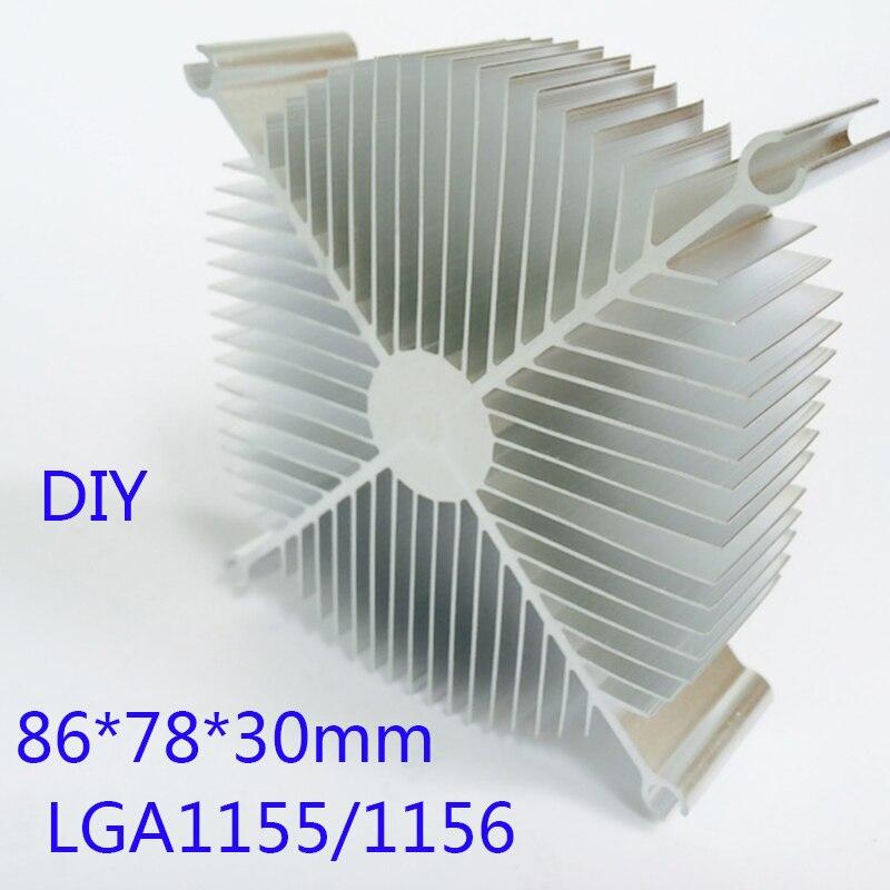Dissipateur de chaleur LED Radiateur En Aluminium 86*78*30mm Puce CPU GPU RAM VGA LED IC Radiateur REFROIDISSEUR ordinateur Dissipateur de Chaleur YL-0049
