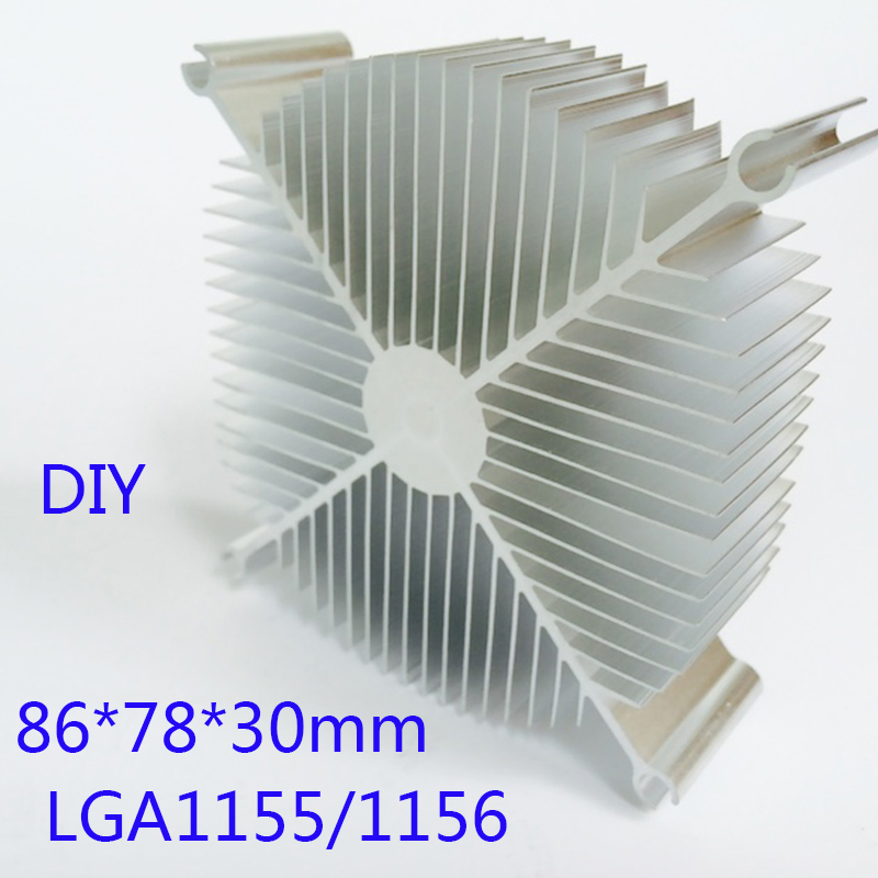 Heat sink LED Radiator Aluminum 86*78*30mm Chip CPU GPU VGA RAM LED IC Radiator COOLER Computer Heat Sink YL-0049 120x69x27mm aluminum radiator high power heatsink for electronic chip cpu gpu vga ram led ic heat sink cooler cooling