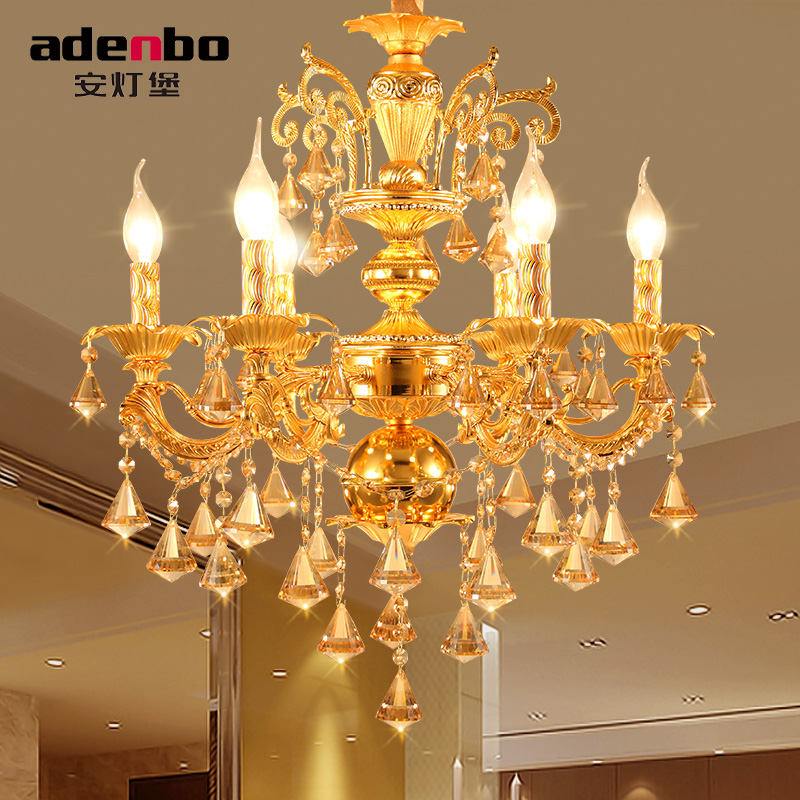 Modern Candle Chandelier Wrought Gold LED Crystal Chandeliers Lighting Fixture Switch Control Hanging Lamp For Decor modern classic maria theresa crystal chandeliers hanging lighting led lamp cristal glass chandelier light for home hotel decor