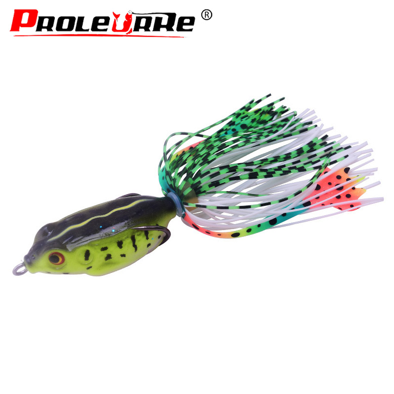 1Pcs simulation frog Fishing lure 4.5cm 6g Top water Minnow Crank Lures fishing bait 5 color Frog Fishing lures fishing tackle