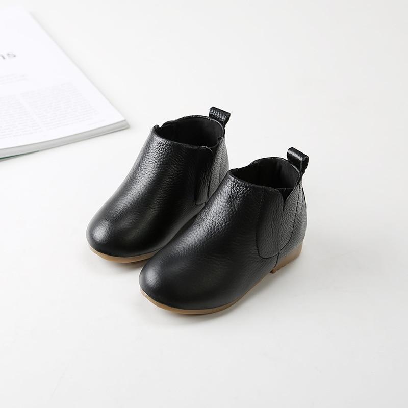 2017 Winter children genuine leather boots kids snow boots