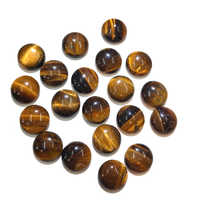 10 PCS Tiger Eye Stone Natural Stones Cabochon 12mm 14mm 16mm 18mm 20mm Round No Hole for Making Jewelry DIY