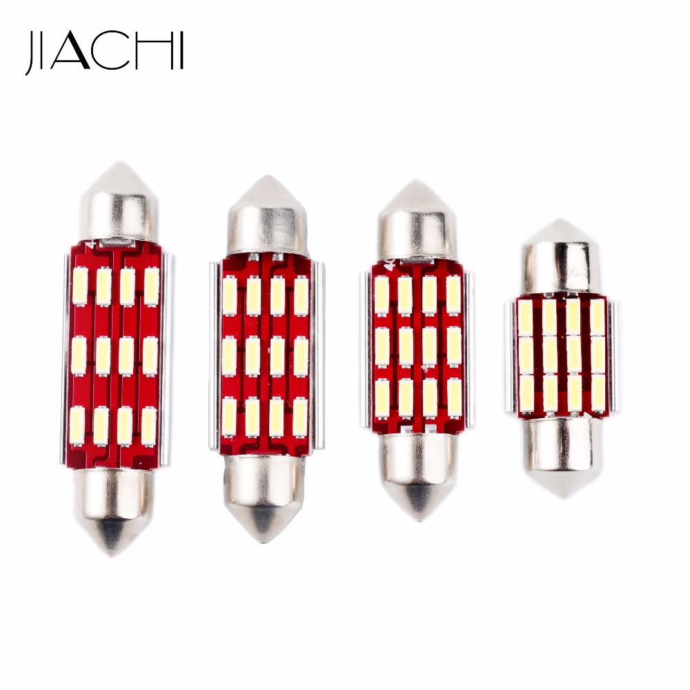 JIACHI 100 x Led CANBUS No Error C5W 31mm 36mm 39mm 41mm 4014SMD 12Led Reading Dome