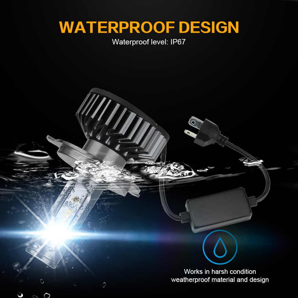 Zdatt H7 LED H4 LED H11 Car Light Headlight Bulb 12000LM H8 H1 HB3 9005 9006 880 H27 H9 100W 6000K 12V 24V Auto HB4 Led