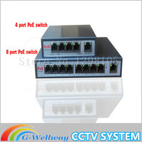 With 4 Port PoE Switch 4 1 Port Desktop Fast Ethernet Switch Dahua Network Cameras Powered