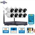 2MP 1080 P Sistema de CFTV 8ch HD Sem Fio kit NVR 3 TB HDD visão nocturna do ir ip wi-fi câmera de segurança ao ar livre sistema de vigilância hiseeu