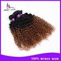 Grau 7a peruano cabelo encaracolado 3 pacote peruano kinky curly virgem cabelo ombre T1B / 30 tecer cabelo humano de 100 marcas ofertas