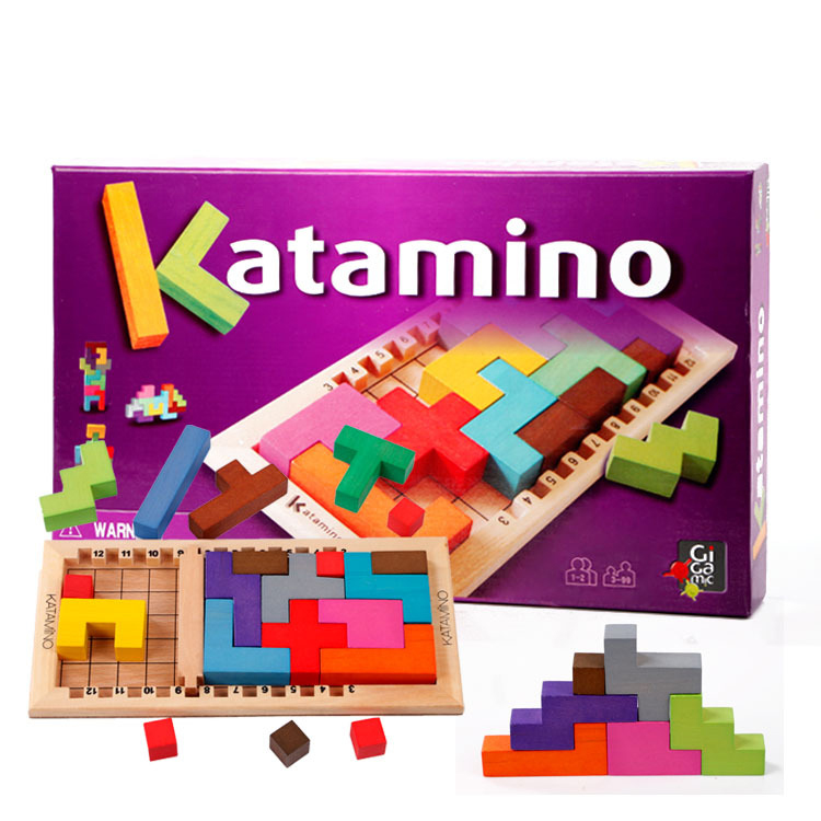 Wooden Toy Katamino Blocks Wood learning & education brinquedos educativos Building blocks Children toys wooden toys for children cactus building blocks assembling demolition wood baby toy education game new year s gift