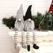 Christmas Decoration Cute Sitting Long-legged Elf Festival New Year Dinner Party Christmas Tree Home Deocration