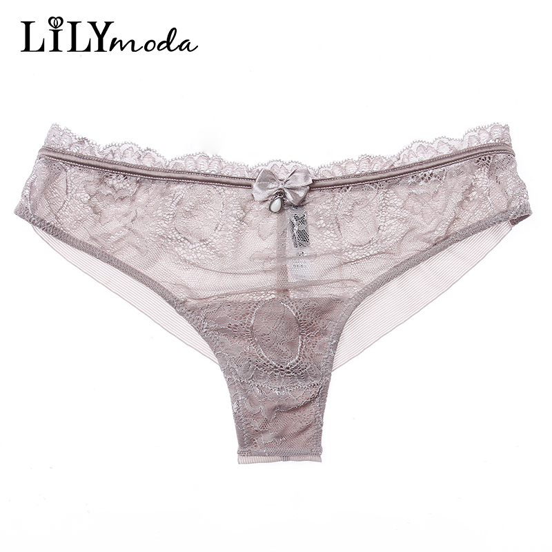 b1310cd79be New Women Sexy T back Thongs Panties Seamless Soft Transparent Lace Briefs  Sexy T pants panty