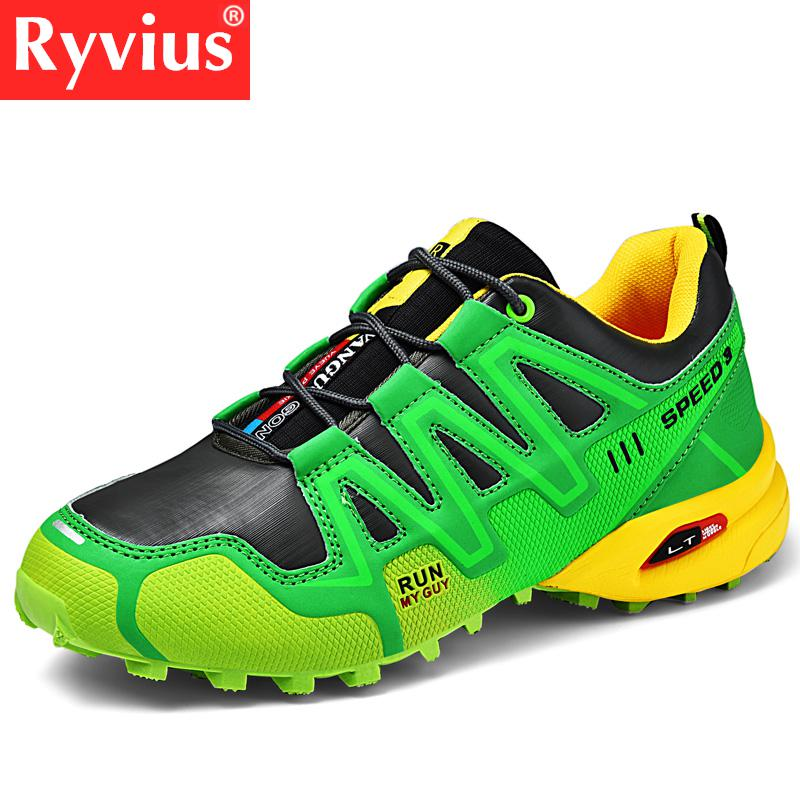Ryvius Brand 2019 New Summer Outdoor Sports Hiking Shoes Men's Adult Breathable Waterproof Lace Sports Shoes Men's Large Size 47(China)