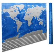 Deluxe Scratch Off Travel World Map Poster Journal Log Wall Sticker Home Decor School Supplies