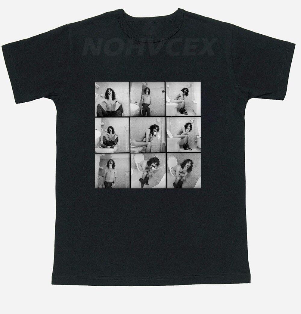 Frank Zappa T-Shirt Mens Fashion Round Frank Zappa T Shirt Top Tees Tshirt