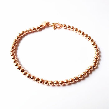 Beautiful fashion Elegant Gold color silver color 4MM beads chain women lady cute Bracelet high quality Gorgeous jewelry H198 4