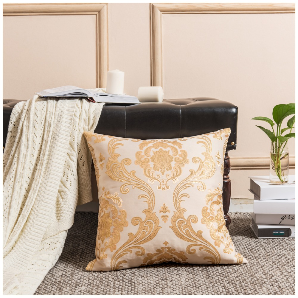 Luxury Home Decorative Cushion Covers for Sofa 45x45 Gold Throw Pillow Covers Velvet for Couches Floor 50x50 Pillowcases