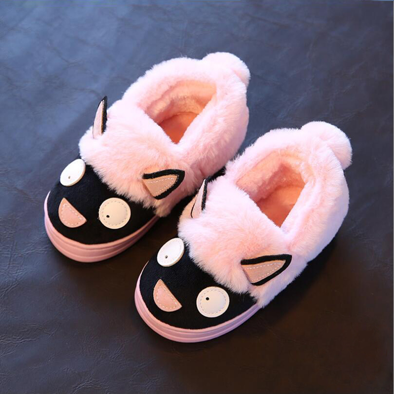 83c66a91eb7 kids slippers boys girls slippers cute cartoon slippers winter shoes kids  warm cotton children slippers girls boys shoes-in Slippers from Mother    Kids on ...