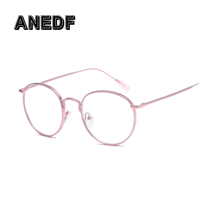 651e2d3756e8a ANEDF Small Round Glasses Clear Lens Unisex Gold Round Metal Frame Glasses  Frame Men Women Black