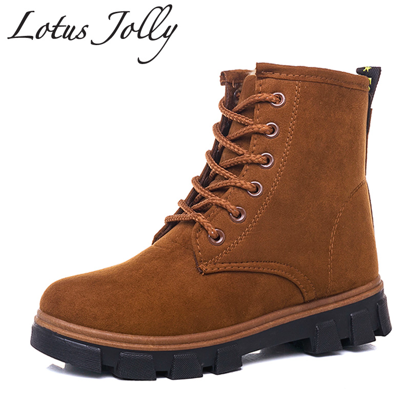 Wonderful Winter Women Snow Boots Fashion Style 2017 Solid Color Female Ankle Boots For Women Shoes Warm ...