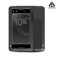 Love Mei Aluminum Metal Cover For SONY Xperia XA1 Ultra Cases Armor Shockproof Gorilla Glass Full