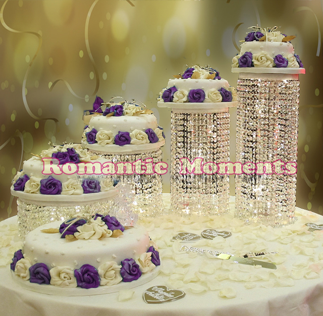 Wedding Crystal Cake Stand Wedding Centerpiece 4pcslot Wedding