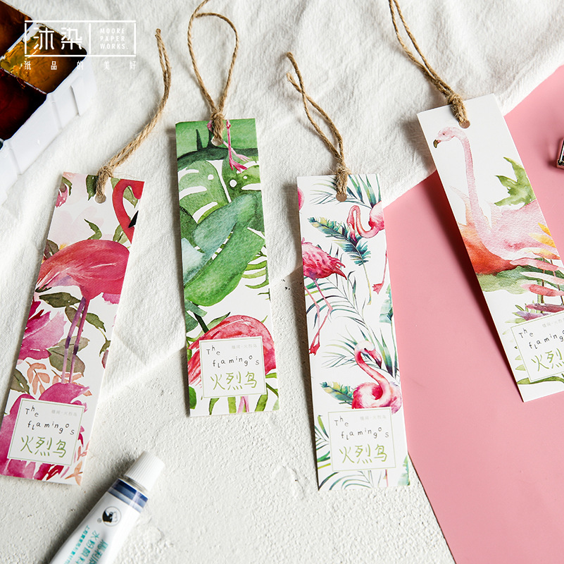 Z11 30 Pcs/Pack Fresh Flamingos Bookmark Marker Of Page School Office Supply Student Stationery