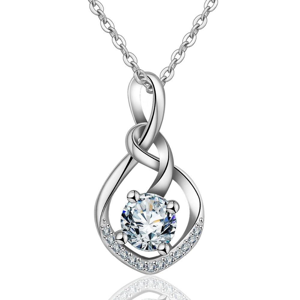 EUDORA 2018 New Unique Sterling Silver CZ Crystal Pendant Necklaces Celtics Knot Design Charm Pendants Jewelry for Women Gift